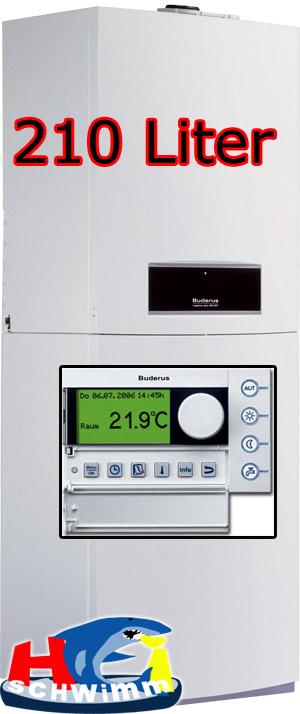 Buderus-Gasheizung-GB152T-24kW-Schichtladespeicher-210L