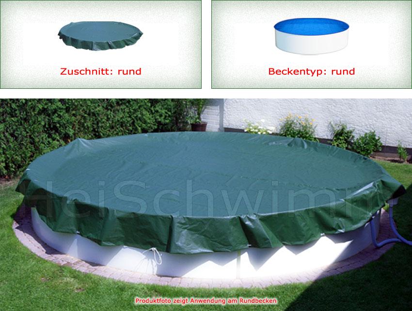 winter abdeckplane f r pool rund 350 360 cm. Black Bedroom Furniture Sets. Home Design Ideas