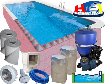 Pool Rechteckig 800 X 400 Cm / Höhe 150 Cm / Mit Leiter Im Set