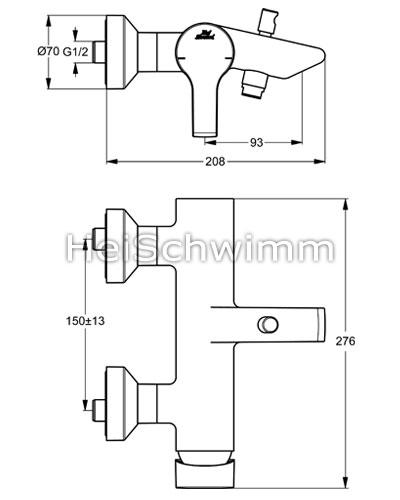ideal standard active einhebel wannenarmatur. Black Bedroom Furniture Sets. Home Design Ideas