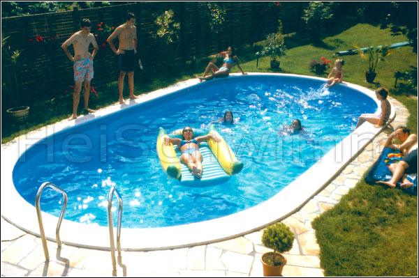 Schwimmbecken future pool oval 700 x 350 x 150 cm for Pool aufstellbecken oval
