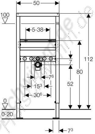 duofixbasic f r waschtisch mit einlocharmatur h he 1120. Black Bedroom Furniture Sets. Home Design Ideas