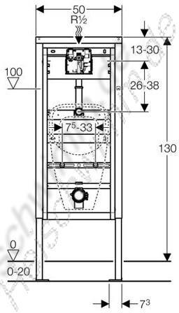 duofixbasic f r urinal h he 1300. Black Bedroom Furniture Sets. Home Design Ideas