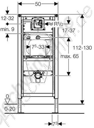 duofix universal f r urinal h he 1120 1300. Black Bedroom Furniture Sets. Home Design Ideas