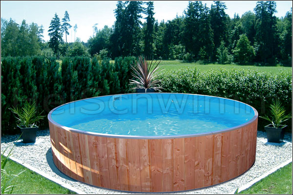schwimmbecken future pool rund 200 x 90 cm m holzverkleidung. Black Bedroom Furniture Sets. Home Design Ideas