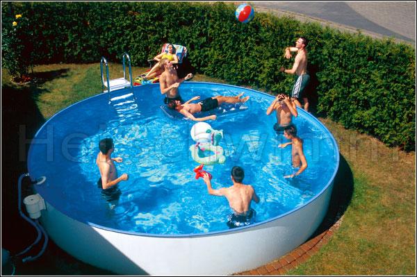 Schwimmbecken future pool rund 500 x 135 cm for Swimming pool stahlwand rund