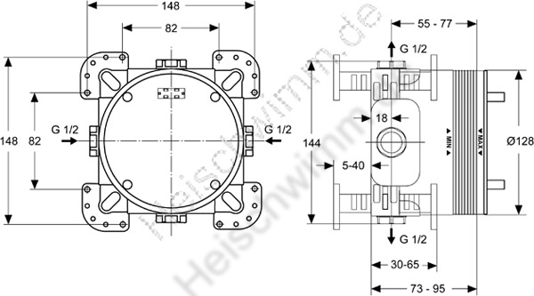 ideal standard unterputz bausatz easy box. Black Bedroom Furniture Sets. Home Design Ideas