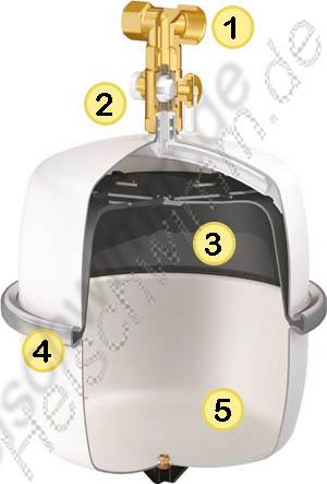 ausdehnungsgef flamco airfix d 25 liter f r trinkwasser. Black Bedroom Furniture Sets. Home Design Ideas